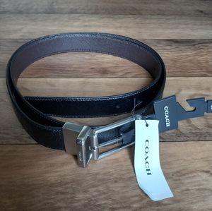 Coach Reversible Crossgrain Leather Belt
